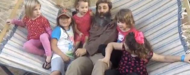 Having fun with the children at Sukkot 2012