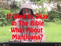 If wine is okay in the Bible, what about marijuana?