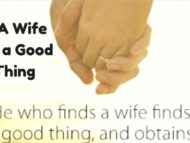 A wife is a good thing!