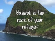 Do you really trust Yahweh?