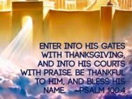 Give Thanks to Yahweh