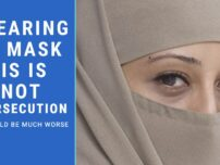 Wearing a mask is not persecution