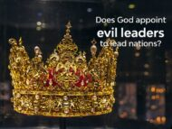 Does Yahweh appoint evil leaders to lead nations?