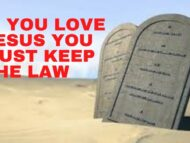 If you believe in Jesus you MUST keep the law!