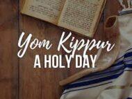 Yom Kippur A Holy Day